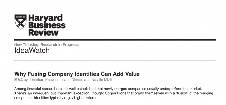 Type 2 Consulting - Published Articles - Why Fusing Company Identities Can Add Value